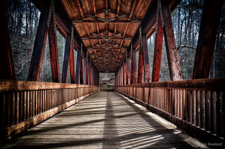 Covered bridge in Roswell, Ga.
