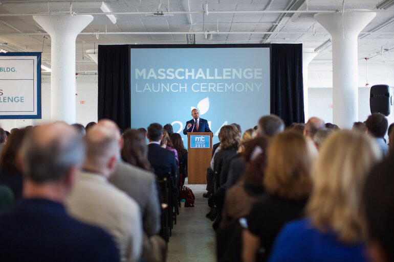Massachusetts Gov. Patrick/Fifth Annual MassChallenge Startup Accelerator