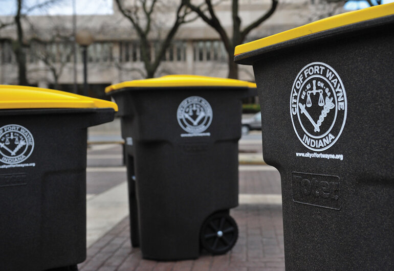 Fort Wayne, Indiana, recycling bins