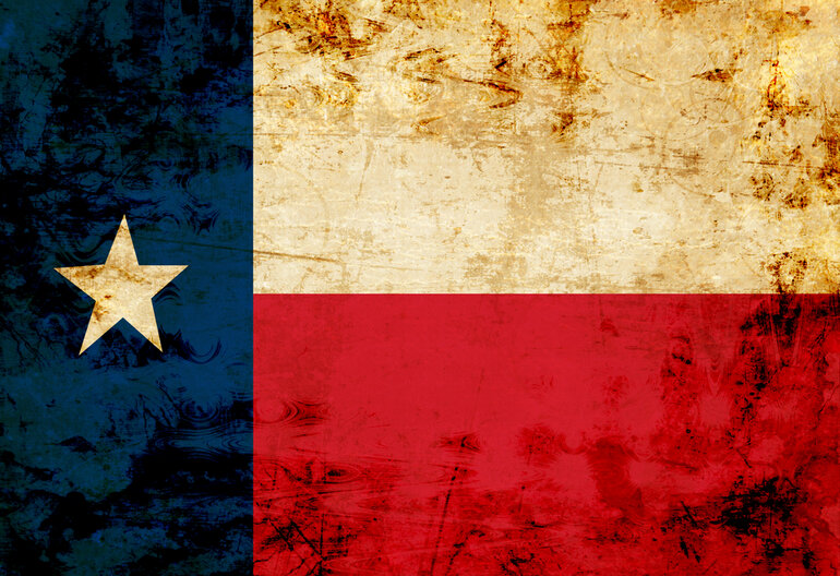 Texas flag art