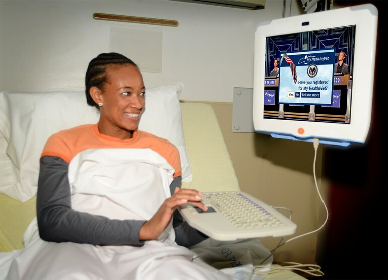 VA Medical Center in Miami unveils touchscreens for patients.