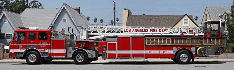 Los Angeles Fire Department ladder truck