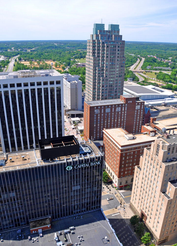 High-rise buildings in Raleigh, North Carolina