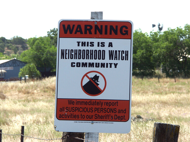 Neighbhorhood watch sign