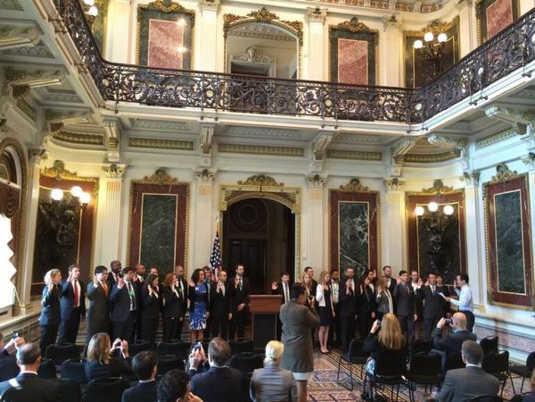 Presidential Fellows swearing in 2014