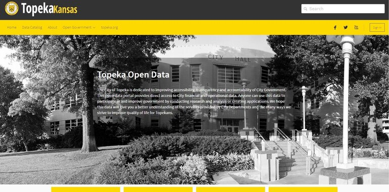 Topeka, Kansas open data and performance site