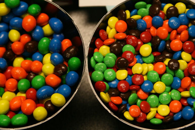 M&Ms for story on employee incentives