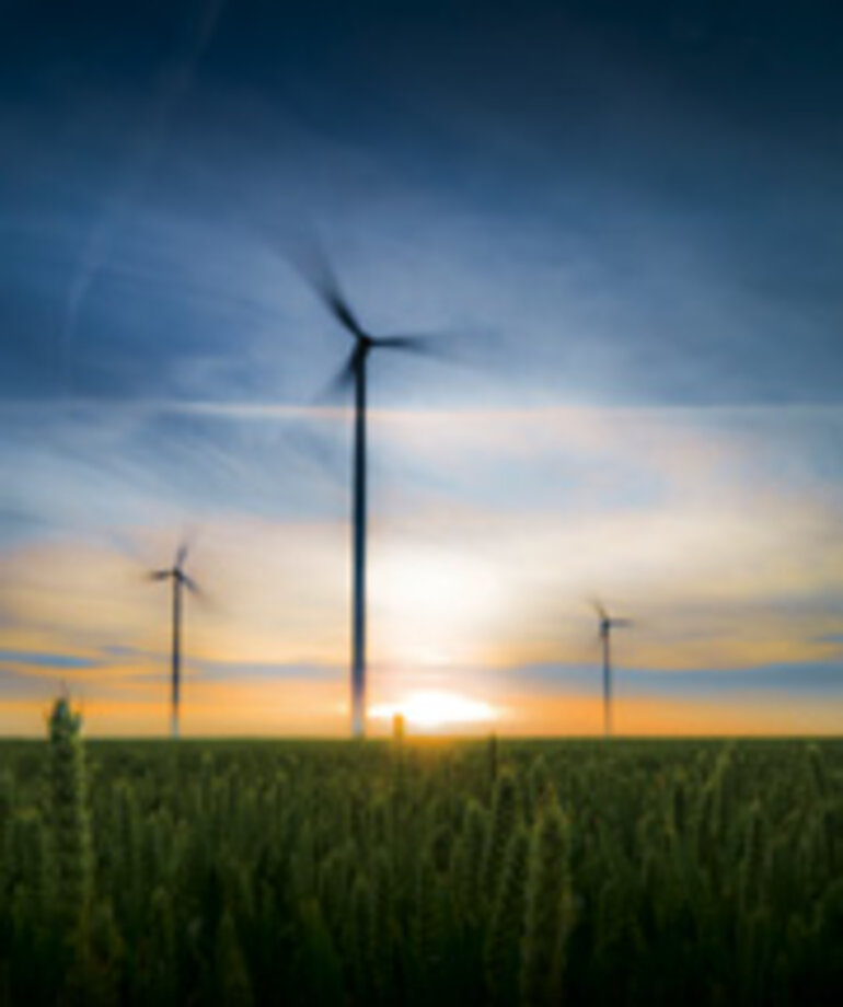 Montana wind turbines/stock photo