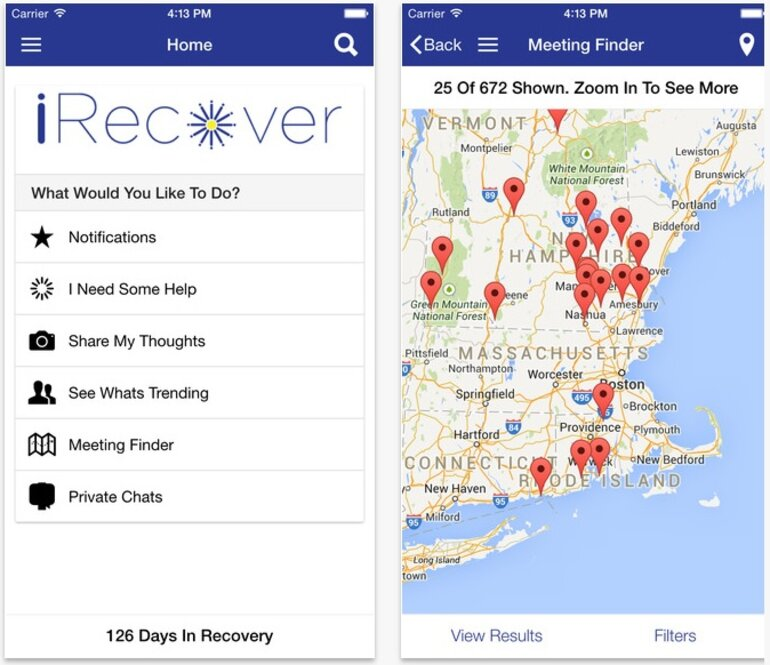 iRecoverApp screenshots