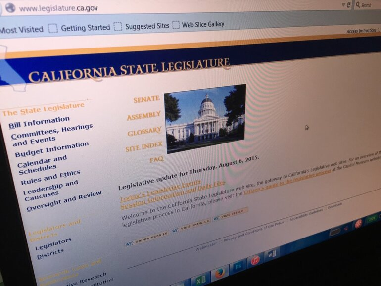 California State Legislature website