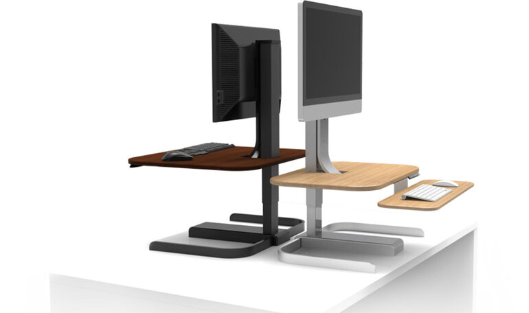 Sit Or Stand At The Crossover Power Adjustable Desk Hp