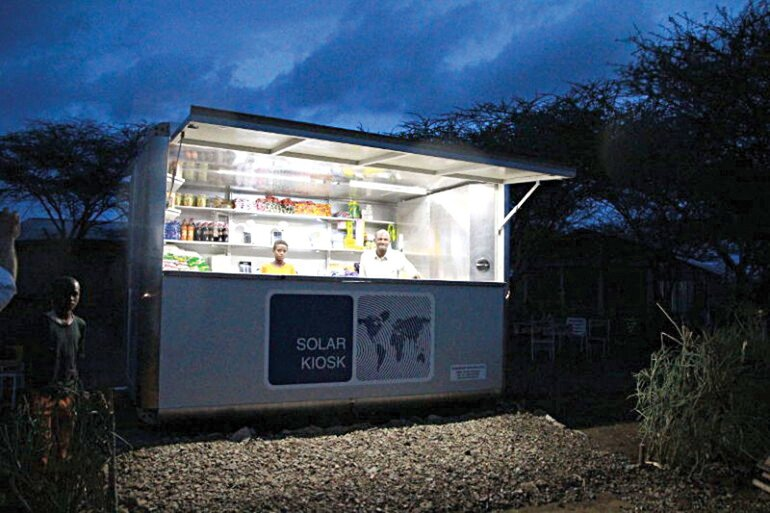 solar-powered kiosk