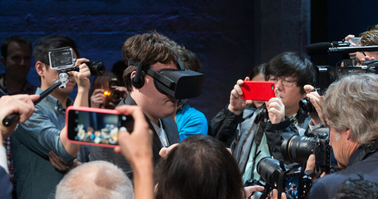 Oculus founder Palmer Luckey demonstrates consumer version Rift headset
