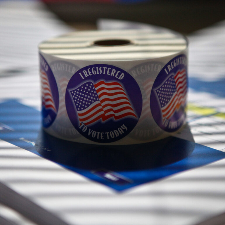 "Roll of ""I Registered to Vote Today"" stickers"