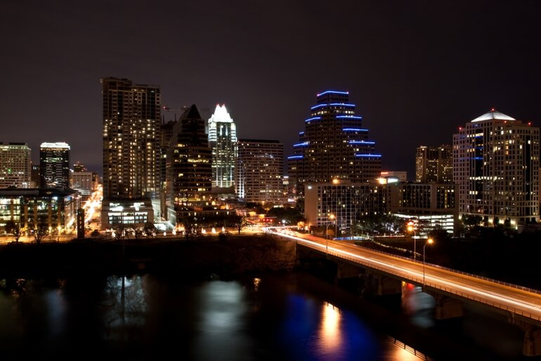 Austin, Texas, skyline at night