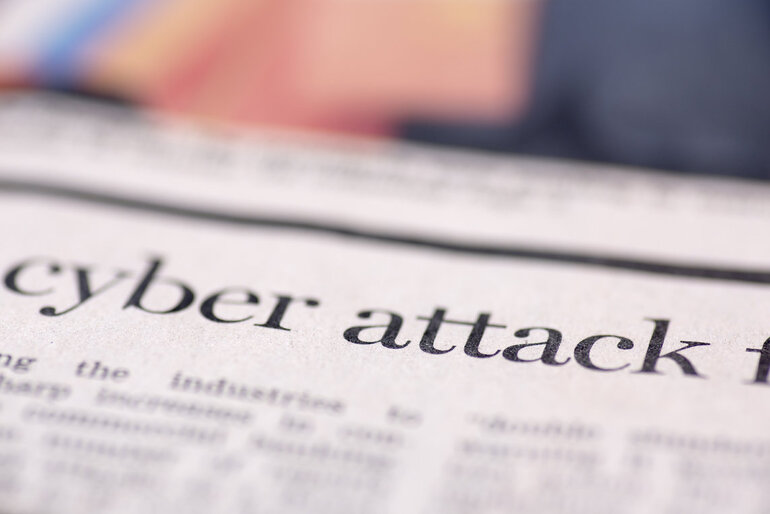 cyber attack newspaper headline
