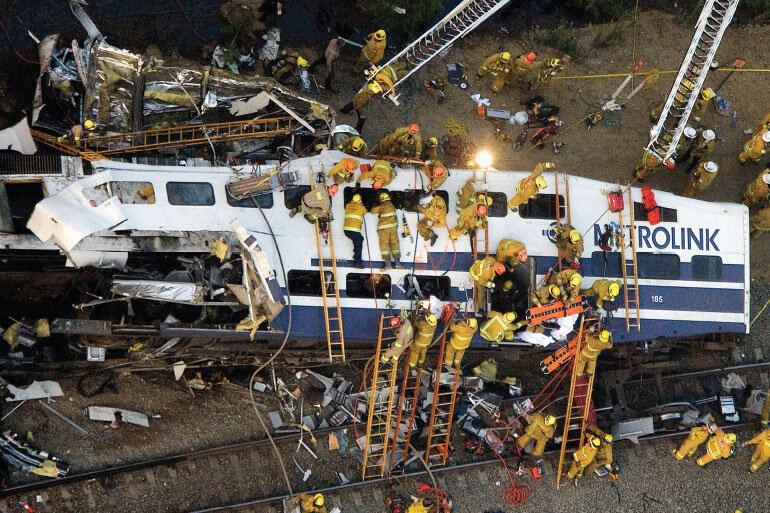 A collision between a Metrolink commuter train and a freight train in 2008 prompted mandates for rail safety.