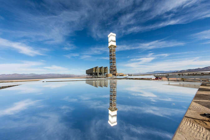 Ivanpah Solar Electric Generating System tower 1