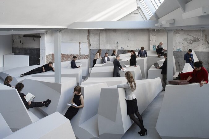 office space where sitting is forbidden