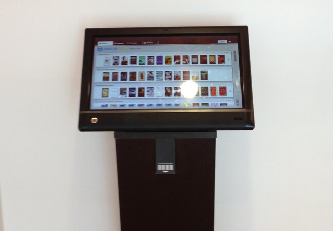The Discovery Station allows patrons to browse e-books