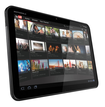 Motorola Xoom touchscreen tablet