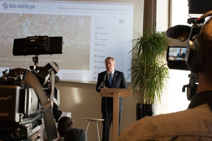 Mayor Ed Murray discusses Seattle's new open data policy
