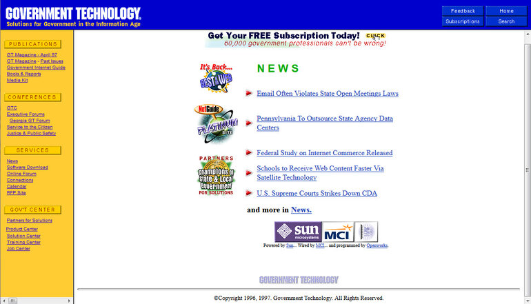 Govtech.net in 1997