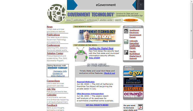 Govtech.net in June 2000