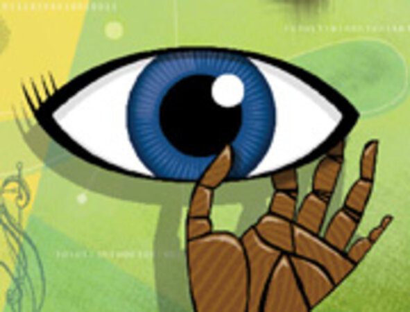 Hand Scanners, Iris Readers and Fingerprint Readers Help Protect Networks/Illustration by Tom McKeith