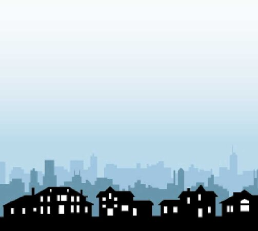 city skyline/Illustration by Tom McKeith