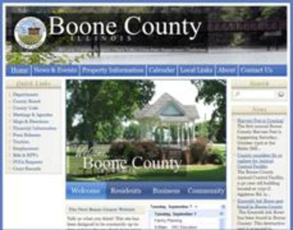 Boone County, Ill., website screenshot