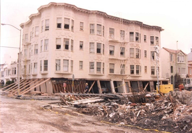 Loma Prieta earthquake in San Francisco, Calif., in 1989