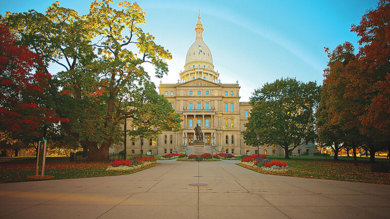 Lansing, Mich., capital building