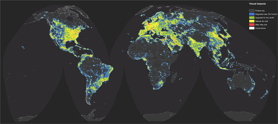New atlas shows extent of light pollution what does it mean for new atlas shows extent of light pollution what does it mean for our health gumiabroncs Images