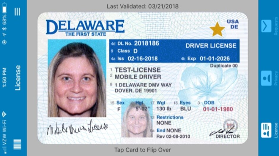 security screening key to delawares mobile drivers license pilot