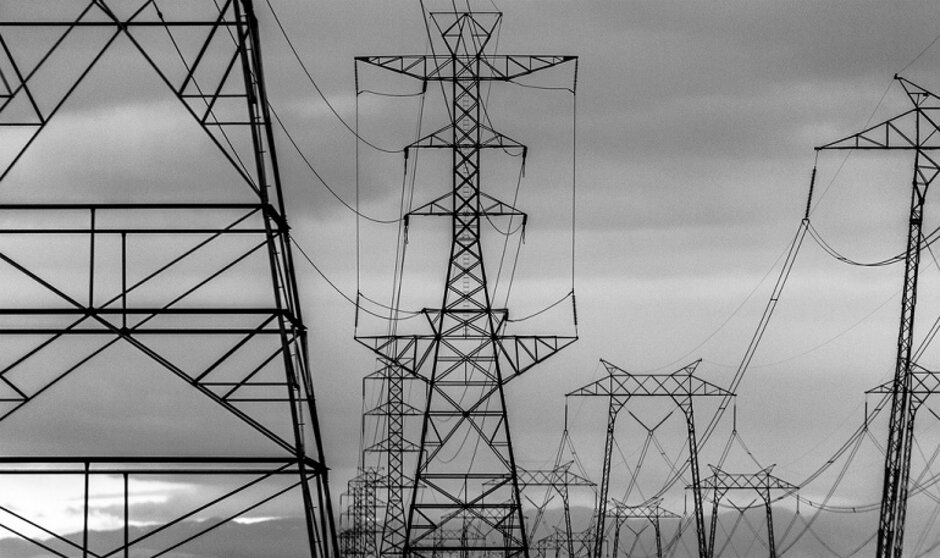 Image result for electricity black and white power grid