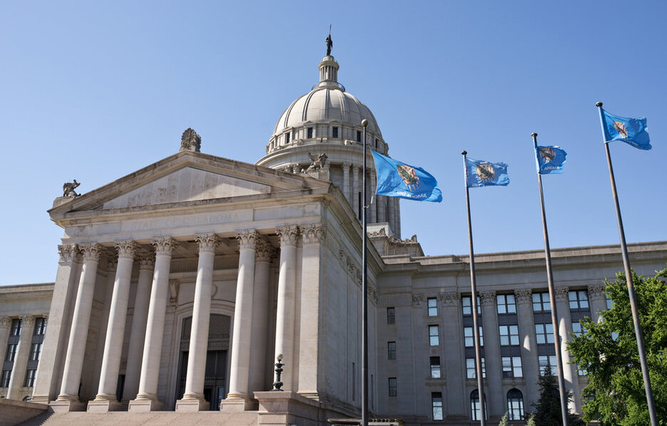 The Oklahoma state capitol building