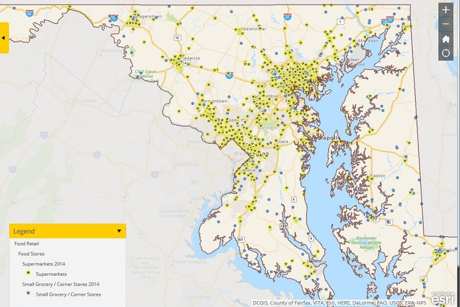 Developers Hope New Maryland Food Map Will Be A Force For Change - Map of us maryland