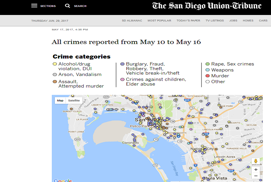 City Data Helps San Diego News Outlet Map Crime in Region