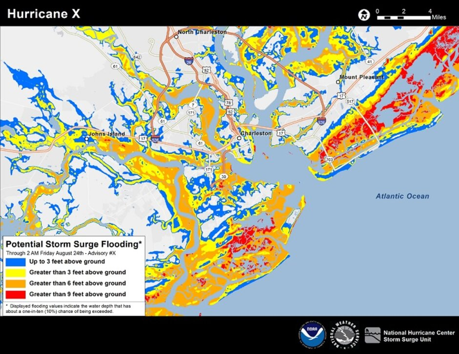 New Interactive StormSurge Map Helps Residents See Potential Flood - National flood map