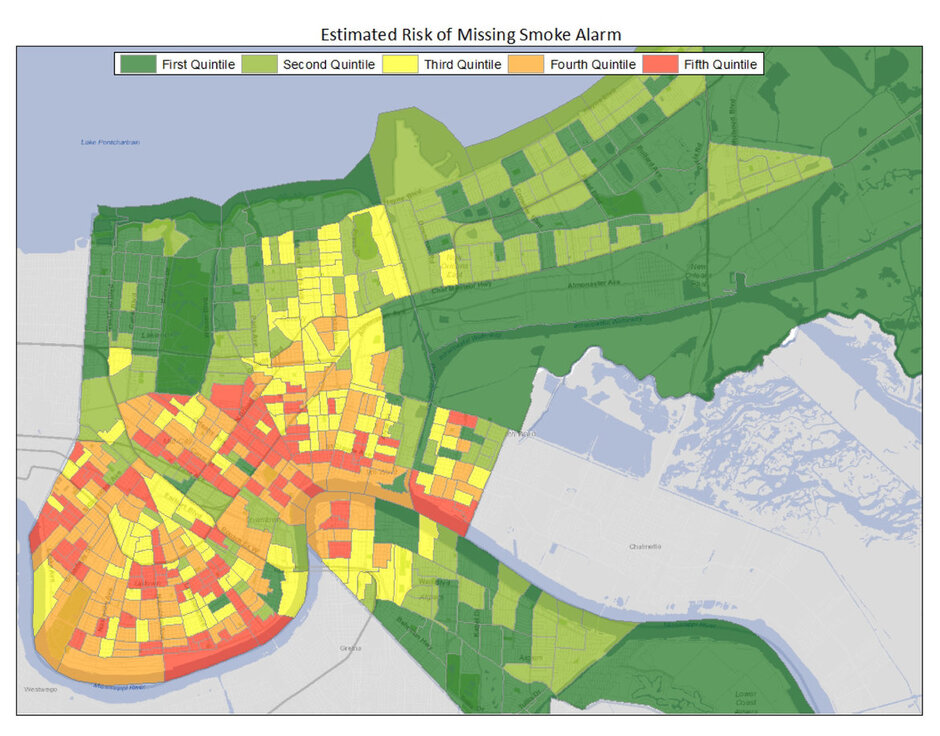 New Orleans Develops DataIntensive Predictive Fire Risk Model - Map of fire risk us