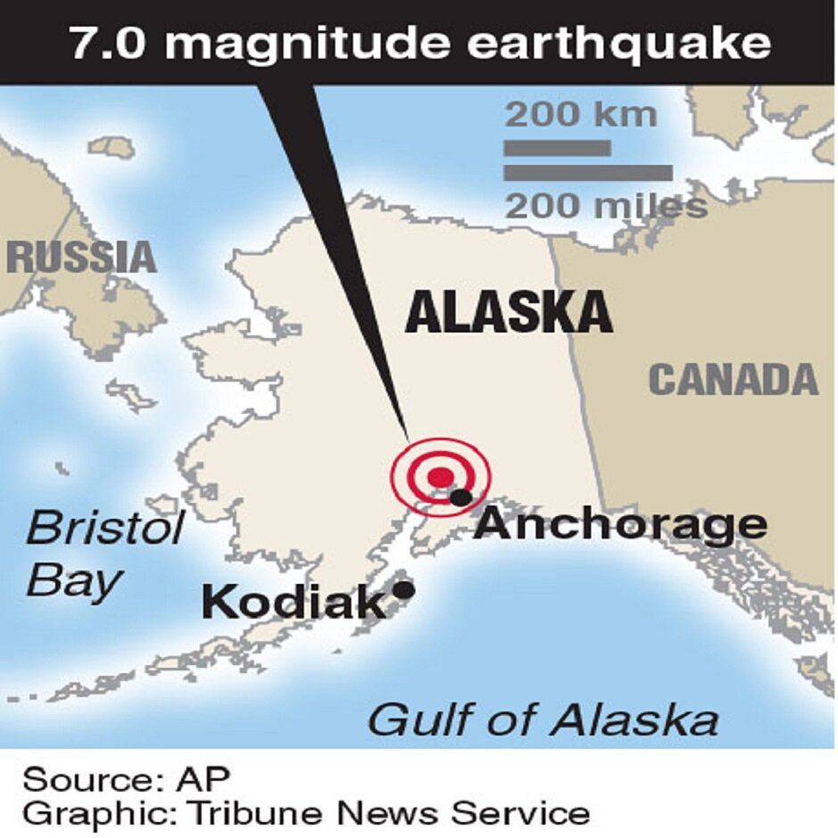 Anchorage Region Hit by Large Earthquake