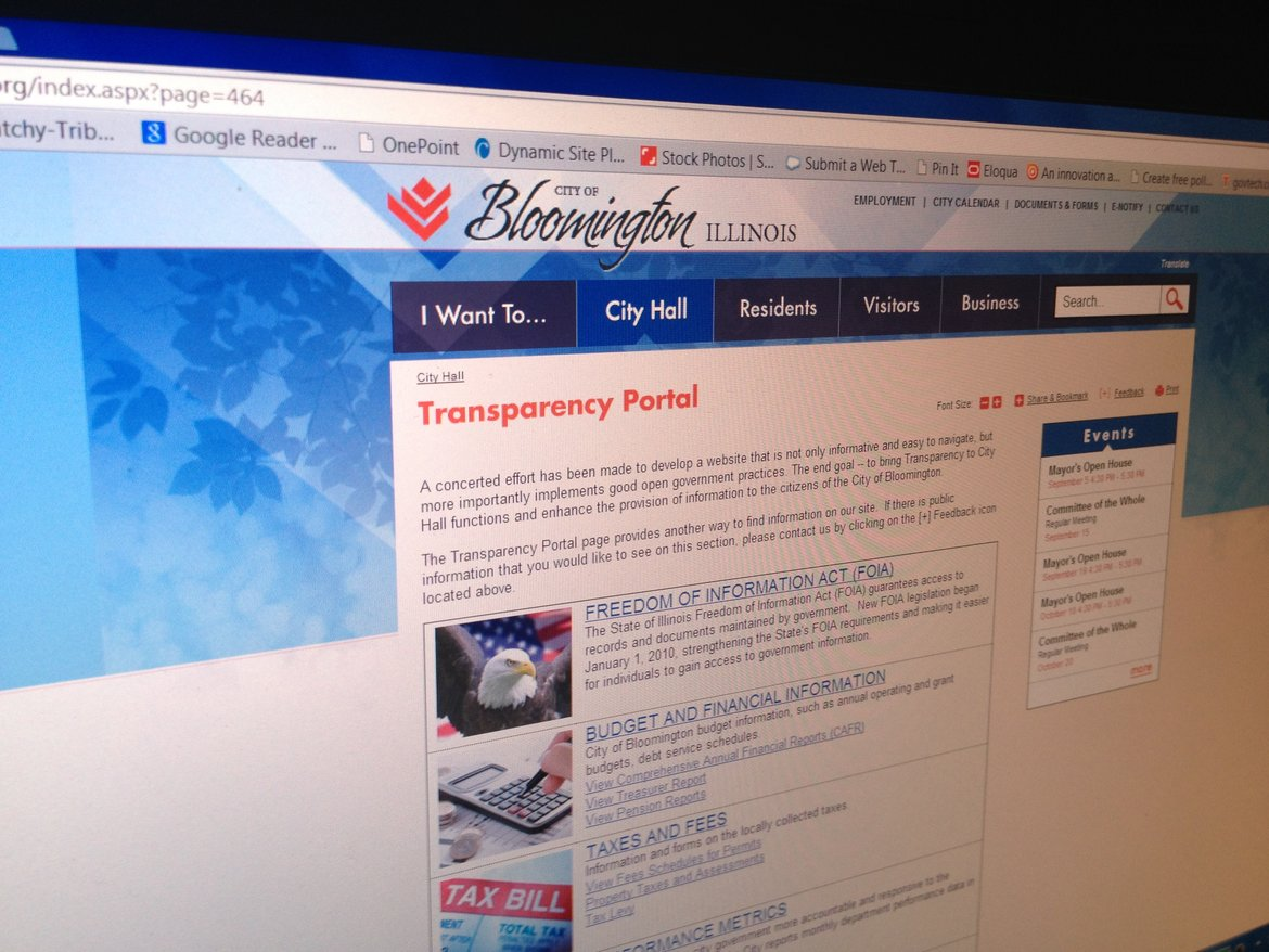 Bloomington, Ill , Codifies Website Transparency Policy