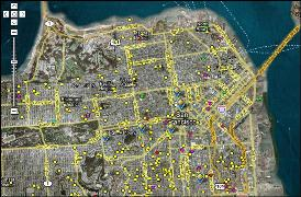 The San Francisco Solar Map represents all residential and business locations that have solar power installations.