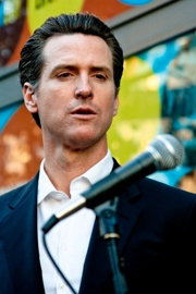 Gavin Newsom, Mayor, San Francisco/Photo by Troy Holden