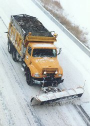 snow plow on Missouri road/Photo courtesy of the Missouri Department of Transportation