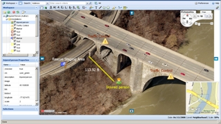 Pictometry aerial 3-D image screen shot