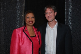 Melodie Mayberry-Stewart, New York State CIO; and Andrew Hoppin, New York State Senate CIO/Photo courtesy of the New York State Office for Technology