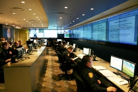 Memphis Police Department Real Time Crime Center/Photo courtesy of the Memphis Police Department